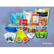 El bolso plástico de la comida del vacío del papel de aluminio / ziplock que se puede volver a sellar se levanta la bolsa para el bolso de la comida