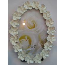 Ovale Elfenbein-Epoxy-Enamal-Bilderrahmen für Hochzeitsfotos