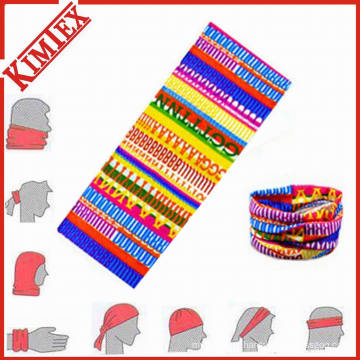 Multifuncional poliéster sem costura Knitted Magic Bandana Headwear