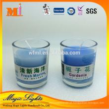 Vela de artesanato de preço de fábrica em frasco de vidro com caixa de presente