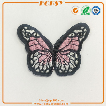 pink butterfly iron on embroidery patches