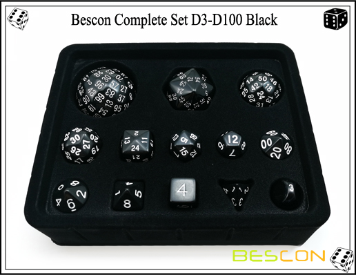 Complete Dice Set D3-D100 (13)