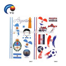 2018 Copa del Mundo Bandera Nacional Etiqueta Engomada Del Tatuaje Juego de Fútbol Temporal Cara Corporal Tatuaje de la Mano
