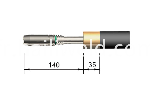 25KD Automatic Straight MIG Welding Torch