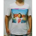 Custom Cotton Wholesale Fashion White Digital Printing Men T-Shirt