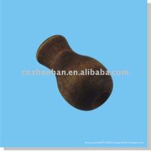 Cuenta de cucurbitácea de madera marrón, borla de cortina, conector de cable, apretón de mano ciego de ventana, componente de persiana de bambú, accesorio de cortina