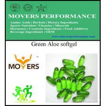 Gélule verte d'aloès / capsule végétale / aucun préservatifs
