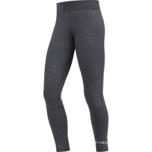 Pantalon de course noir long Lady Fitness