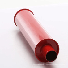 4 inch Dia Traditional Hot Rod Quiet Muffler with Red Paint