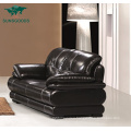 Best Selling Living Room Furniture Sofa 1 2 3 Seater High Legs Solid Wood Modern Leather Sofa