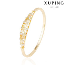 51550 xuping wholesale 18k gold plated women fashion bangles with stone