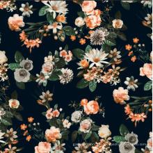 Neue Blumen-Design Druckstoff gewebte Kleidung