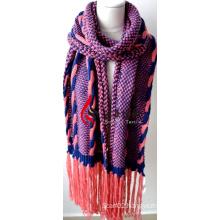 Acrylic Knitted Shawl (12-BR201712-6)