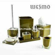Transparent Polyresin Bathroom Set (WBP0202C)