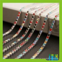 Novo estilo de jóias de cristal cadeias de copo vazio