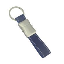 Alta qualidade promocional metal couro chaveiro com logotipo (f3041a)