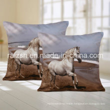 Horse Pattern Sofa Cushions for Home / Car with Lumbar Pillow