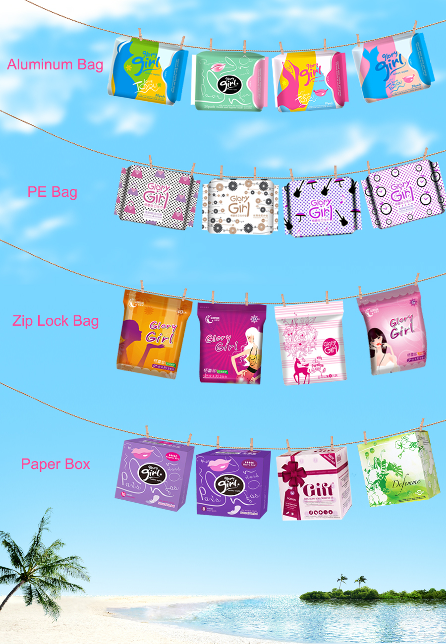 Sanitary Napkins Packing