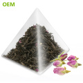 OEM Heat Seal Food Grade Biodegradable Transparent Nylon Triangle Pyramid Shaped Tea Bags/Teabags