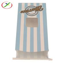 Food paper packaging bag with open-window