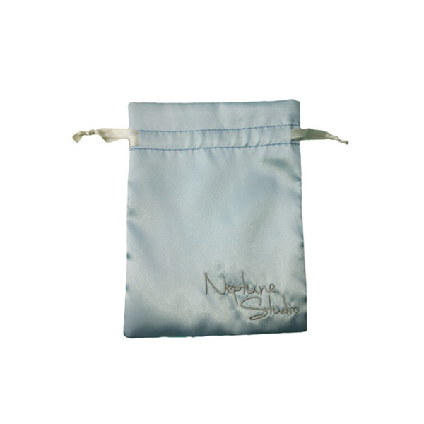 Satin Bag Pouch Silver