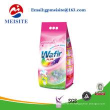Sellado fuerte Die Cut Handle Design Bolsas de plástico de lavado de polvo