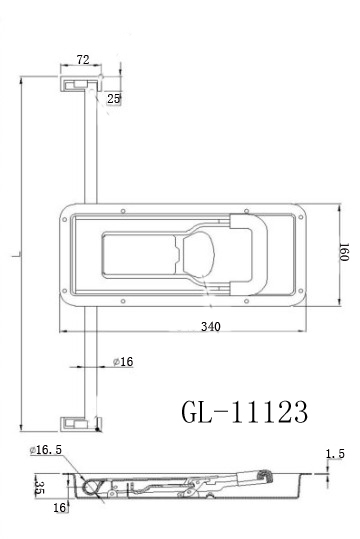 Enclosed Trailer Locks GL-11123C