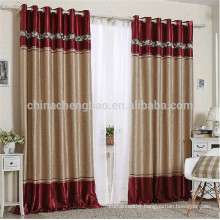 Newest european style metal curtain rod organza light curtain