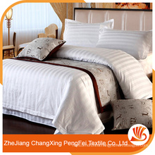 Classic luxury design polyester stripe hotel bedding farbric