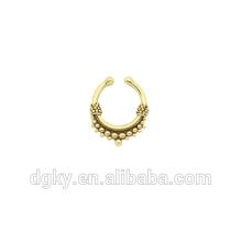 Fake body piercing for septum non piercing nose ring