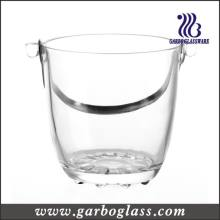 High Quality Glass Ice Bucket with Stainless Steel Handle