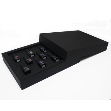 Black matte nail polish paper box