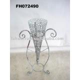iron craft - metal vase