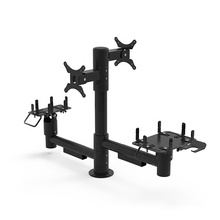 Commercial Display POS Machine Stand Pole Mounting Solutions With Rotatable Around Pole