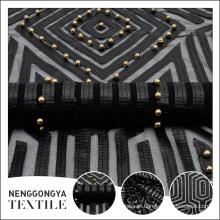 Designer personalizado feito de malha frisado laser india tecido bordado têxteis