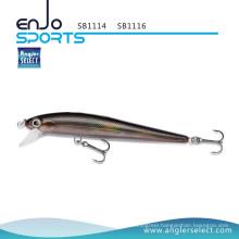 Angler Select Stick Bait Shallow Fishing Tackle Bait with Vmc Treble Hooks (SB1114)
