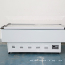 horizontal island freezer dumplings frozen fish freezer