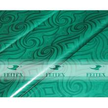 Color verde FEITEX hecho a mano brocado de damasco ghalila 100% algodón Tela de tela africana