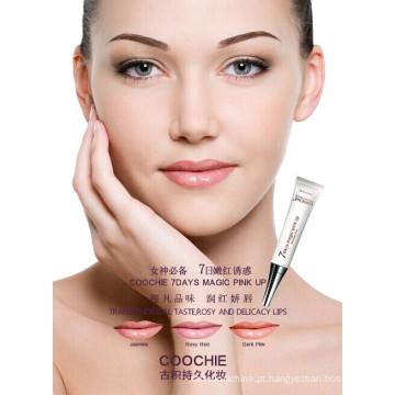 Brilho labial para maquiagem permanente Magic Pinkup à prova d'água 7 dias