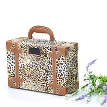 Hard case cosmetic bag leopard printing acrylic cosmetic case
