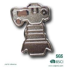 Eisen Stanzen Sandstrahlen Silber Pin Abzeichen (BD-031)