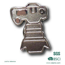Iron Stamping Sandblasting Silver Pin Badge (BD-031)