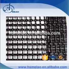 Tissu en treillis en fibre de verre en coton noir