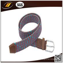 Echtes Leder-Abschluss-Art- und Weiselegierungs-Pin-Schnalle geflochtener Segeltuch-Gurt