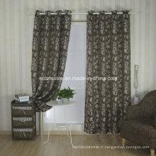 Rideau en tissu de fenêtres à fleurs Jacquard Top Trend
