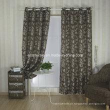 Top Tendência Jacquard Flower Window Cortina de tecido