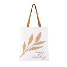 OEM ODM Wholesale Eco-Friendly Cotton Inner Pocket Handbags Grocery Bags Recycled Canvas Recycle Shopping Tote Bag with Custom Printed Logo
