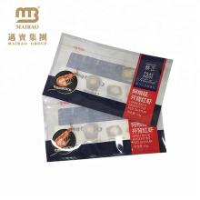 Sac d'emballage en plastique qui respecte l'environnement de cachetage de chaleur non toxique d'impression de gravure faite sur commande pour l'aliment congelé