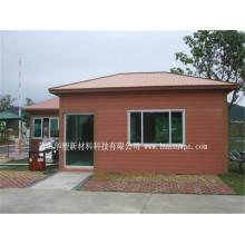 Painéis de parede exteriores do material de construção WPC de Eco da coberta de parede da casa