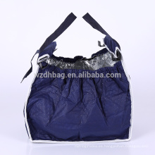 La bolsa de asas no tejida aislada plegable plegable de la carretilla del carro de compras del bolso de ultramarinos